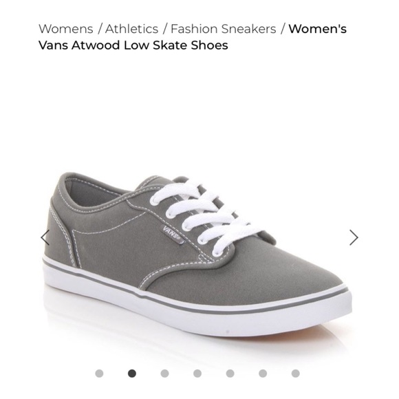 51bf83a5e582 Vans Shoes - Vans Atwood Low Skateshoe Gray size 7